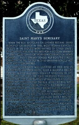 Saint Mary's Seminary Marker image. Click for full size.