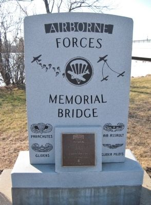 Airborne Forces Memorial Bridge Marker image. Click for full size.