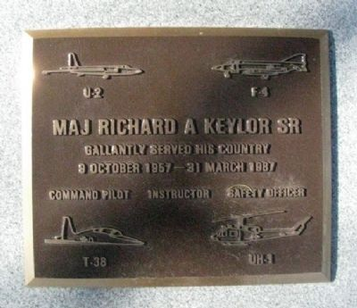 Major Richard A Keylor Sr Marker image. Click for full size.