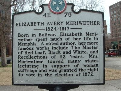 Elizabeth Avery Meriwethers Marker image. Click for full size.