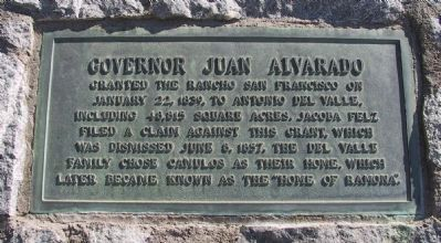 Governor Juan Alvarado Marker image. Click for full size.