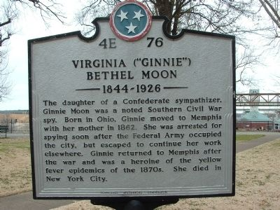 "VIRGINIA ""GINNIE"" BETHEL MOON Marker image. Click for full size."
