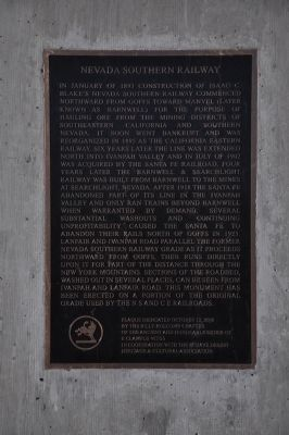 Nevada Southern Railway Marker image. Click for full size.