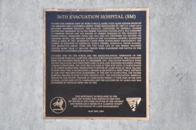 36th Evacuation Hospital (SM) Marker image. Click for full size.