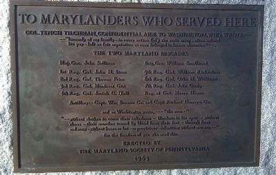 To Marylanders Who Served Here Marker image. Click for full size.