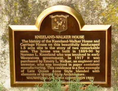 Kneeland-Walker House Marker image. Click for full size.