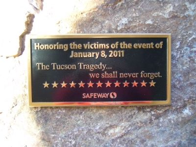 The Tucson Tragedy Marker image. Click for full size.