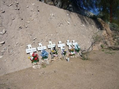 Roadside Shrine for those killed in The Tucson Tragedy. image. Click for full size.