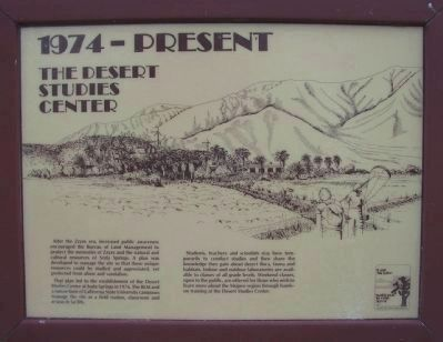 <i>Panel 8:</i> 1974 - Present: The Desert Studies Center image. Click for full size.