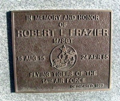 MSgt Robert L. Frazier Marker image. Click for full size.