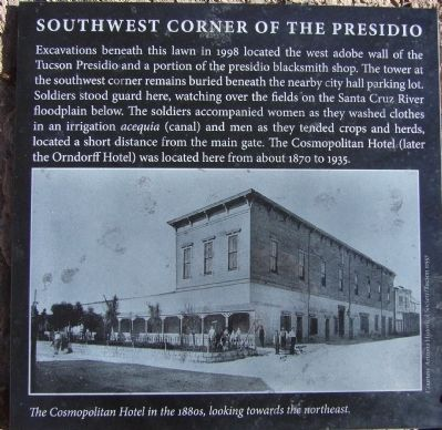 Southwest Corner of the Presidio Marker image. Click for full size.