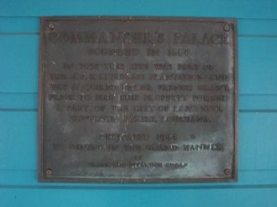 Commander's Palace Marker image. Click for full size.