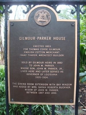 Gilmour – Parker House Marker image. Click for full size.
