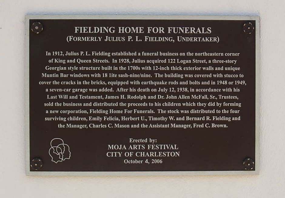 Fielding Home for Funerals Marker