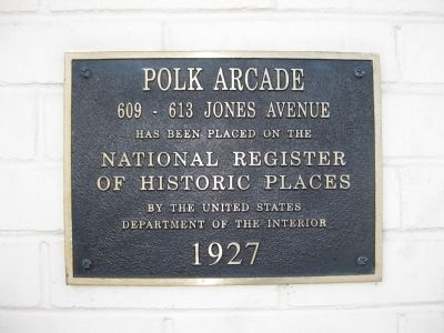 Polk Arcade Marker image. Click for full size.