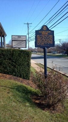 Culbertson House Marker Roadside image. Click for full size.
