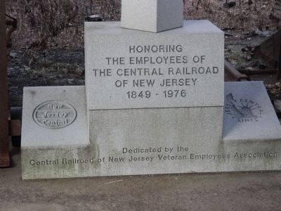 Central Railroad of NJ Employees Marker image. Click for full size.