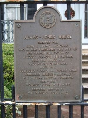 Adams – Jones House Marker image. Click for full size.