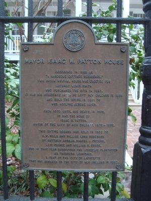 Mayor Isaac W. Patton House Marker image. Click for full size.