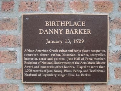 Birthplace of Danny Barker Marker image. Click for full size.