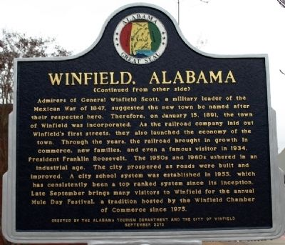 Winfield Alabama Marker image. Click for full size.