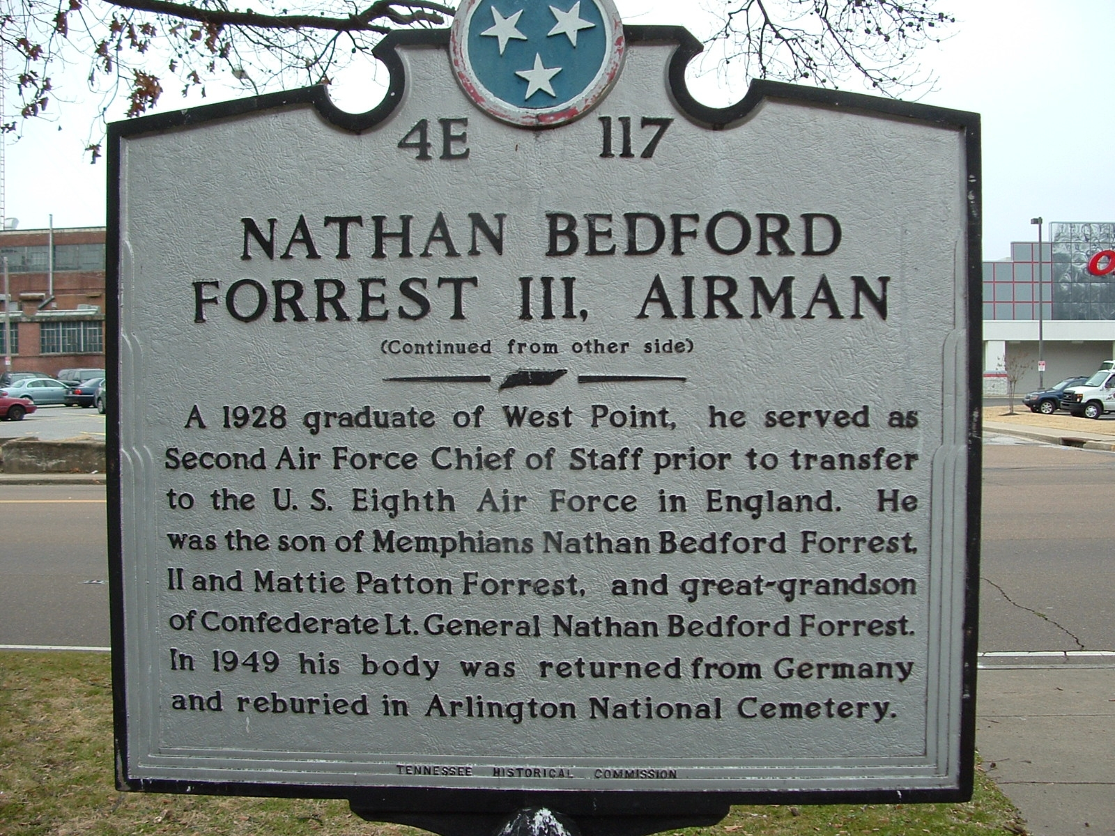 Nathan Bedford Forrest III, Airman Marker