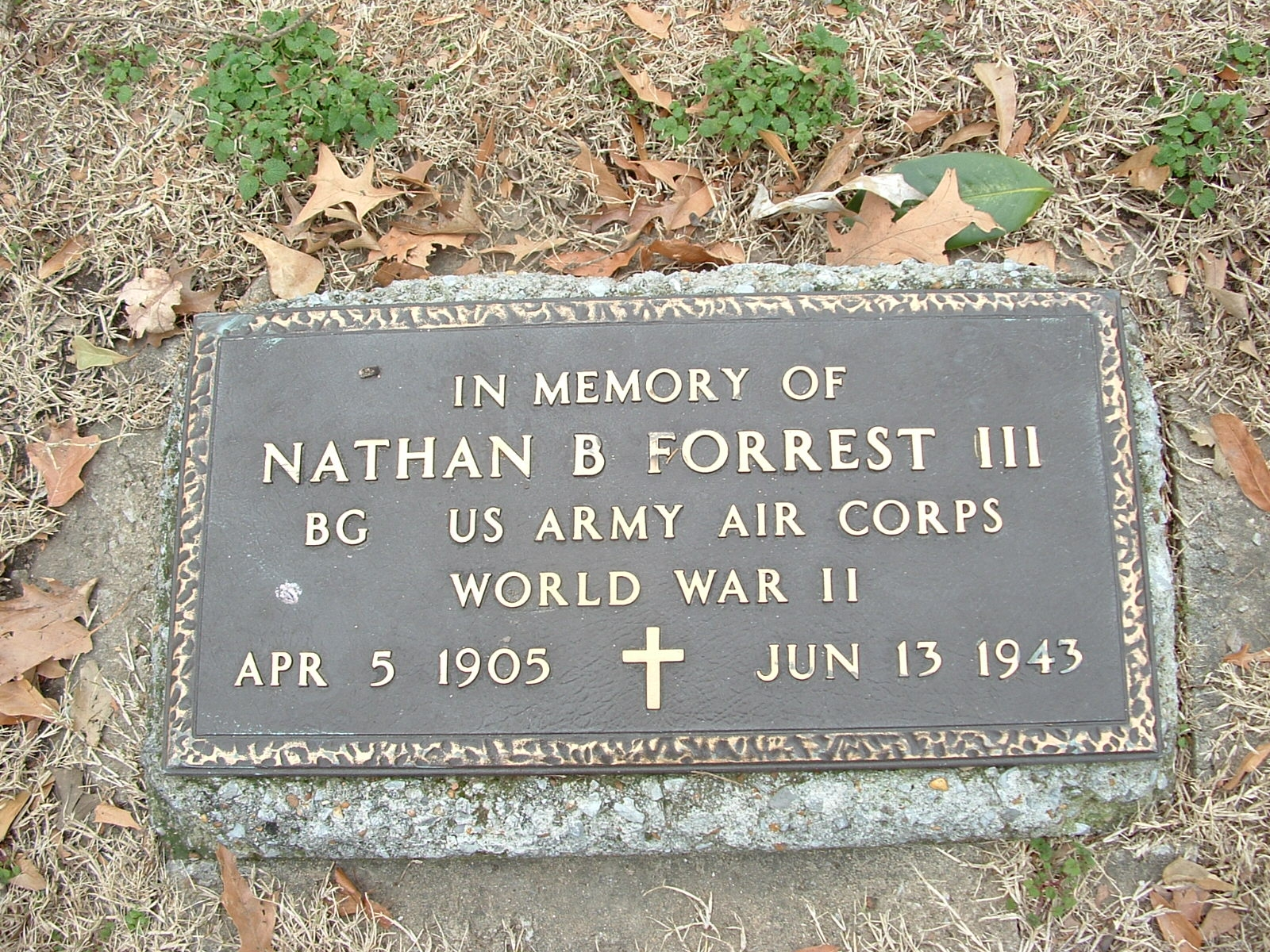 In Memory of Nathan Bedford Forrest III