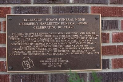 Harleston Boags Funeral Home Marker image. Click for full size.