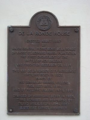 De La Ronde House Marker image. Click for full size.