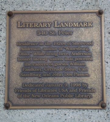 Literary Landmark Marker image. Click for full size.