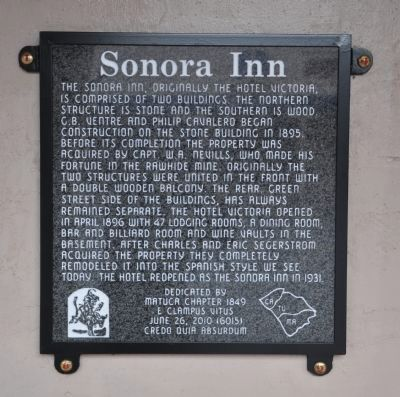 Sonora Inn Marker image. Click for full size.
