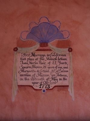 First Marriage in California Marker image. Click for full size.