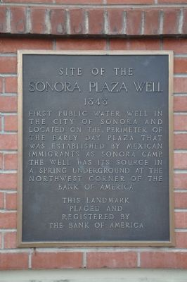 Site of the Sonora Plaza Well Marker image. Click for full size.