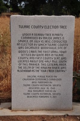 Tulare County Election Tree Marker image. Click for full size.