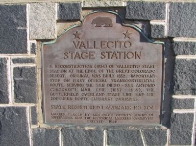 Vallecito Stage Station Marker image. Click for full size.