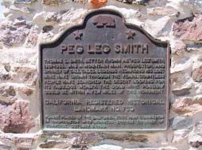 Peg Leg Smith Marker image. Click for full size.