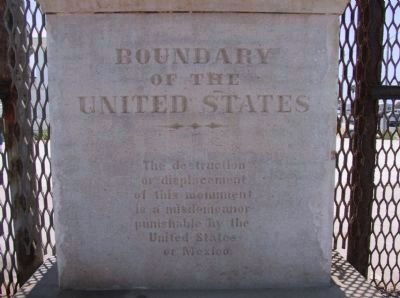 Boundary Marker Number 258 (1894) image. Click for full size.