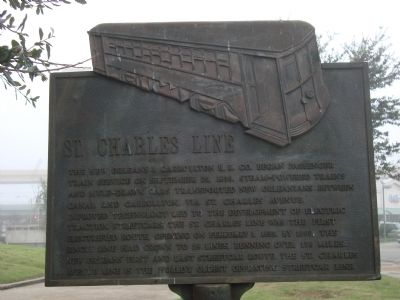 St. Charles Line Marker image. Click for full size.