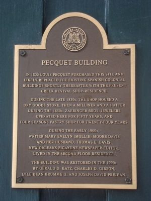 Pecquet Building Marker image. Click for full size.