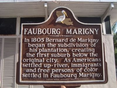 Fauboug Marigny Marker image. Click for full size.