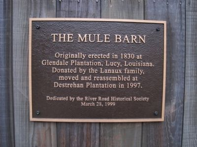 Mule Barn Marker image. Click for full size.