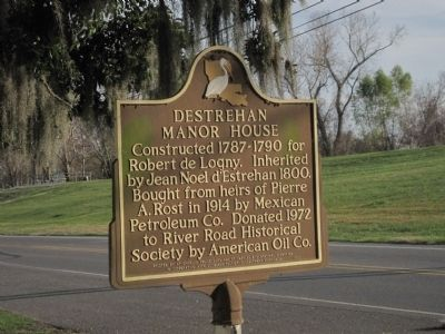 Destrehan Manor House Marker image. Click for full size.