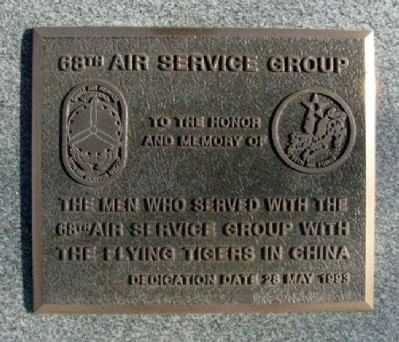 68th Air Service Group Marker image. Click for full size.