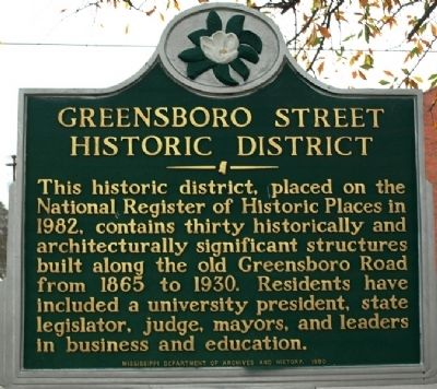 Greensboro Street Historic District Marker image. Click for full size.