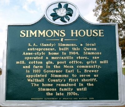 Simmons House Marker image. Click for full size.
