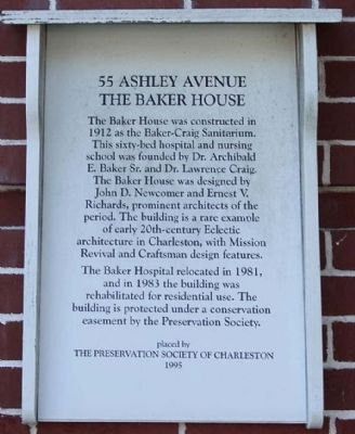 55 Ashley Avenue Marker image. Click for full size.