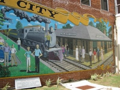 Historic Train Depot Mural image. Click for full size.