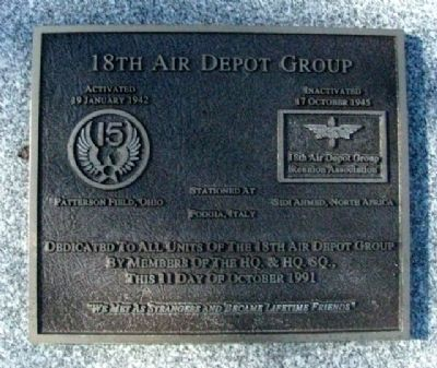 18th Air Depot Group Marker image. Click for full size.