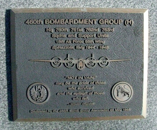 460th Bombardment Group (H) Marker