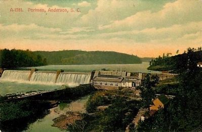 Portman Shoals Power Plant<br>Historical Postcard image. Click for full size.
